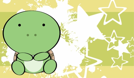 cute baby girls: cute baby turtle background in vector format very easy to edit