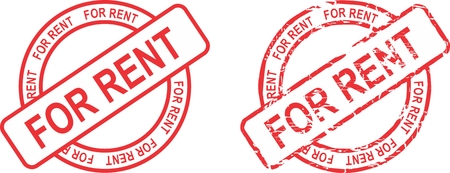for rent: for rent  stamp sticker in vector format very easy to edit Illustration