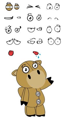 Camel Plüschkarikaturausdrücke im Vektor-Format sehr einfach zu bearbeiten eingestellt Standard-Bild - 40984113