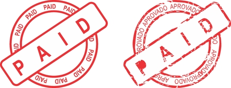 paid stamp: paid stamp sticker in vector format very easy to edit