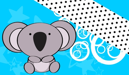 cute baby girls: cute baby koala background in vector format very easy to edit