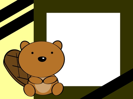 cute baby girls: cute baby beaver background in vector format
