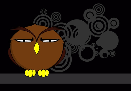owl cartoon expressions background in vector format very easy to edit