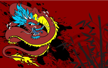 japanese dragon tattoo background in vector format very easy to edit