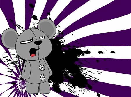 infantile: plush baby mouse cartoon background in vector format Illustration