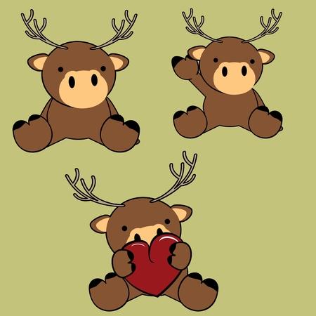 baby deer: cute baby deer cartoon in vector format lovely September