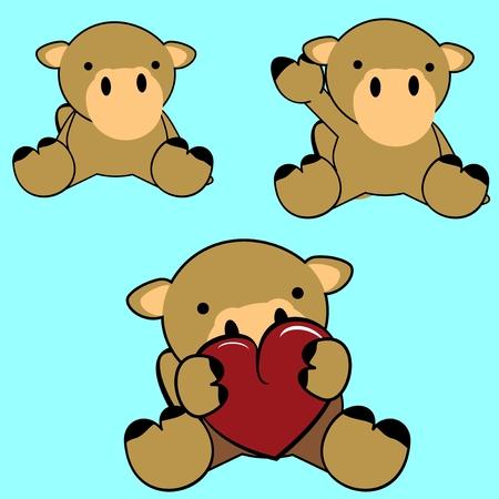 cartoon camel: cute baby lovely cartoon camel September in vector format
