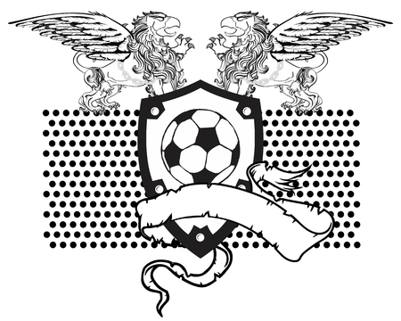 gryphon: gryphon soccer coat of arms crest in vector format