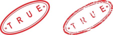 true: true stamp sticker in vector format very easy to edit