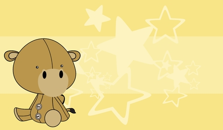 baby toy: cute baby camel cartoon background in vector format