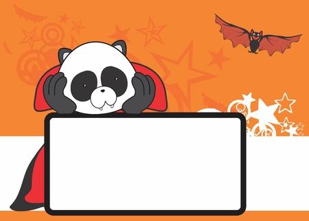 panda bear: cute panda bear costume dracula copyspace in vector format
