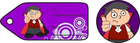 giftcard: dracula costume cute kid in format giftcard