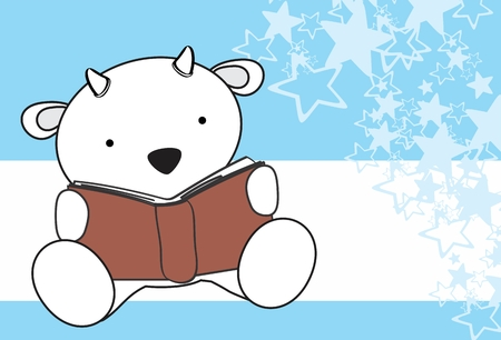 baby goat: reading cute baby goat cartoon in format very easy to edit