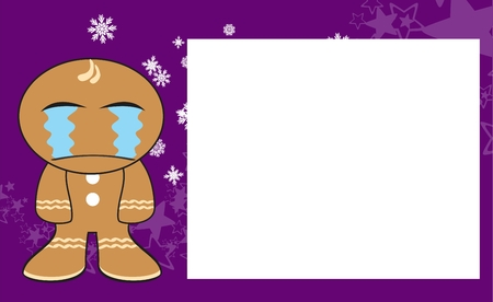 copysapce: gingerbread xmas kid cartoon background in vector format expression