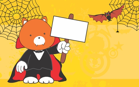 graphic display cards: cute fox costume dracula copyspace in format