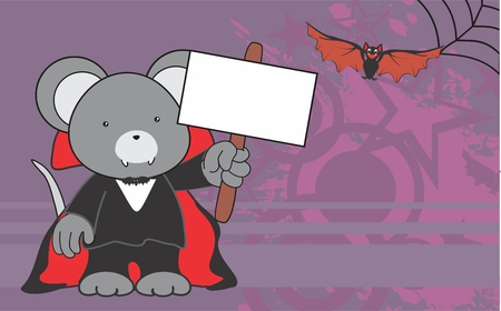 cute mouse: cute mouse costume dracula copyspace in format