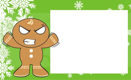 gingerbread xmas kid cartoon background in vector format expression
