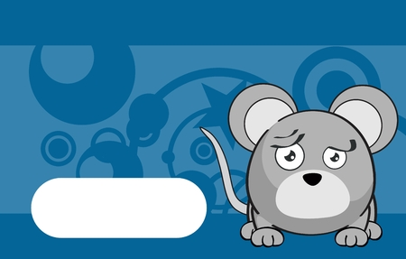 infantile: expression cute mouse cartoon background in vector format very easy to edit