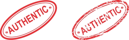 authentic: authentic stamp sticker in vector format very easy to edit