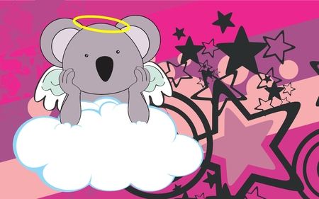 cherub: sweet cherub elephant cartoon background in vector format very easy to edit