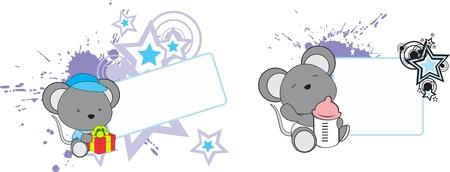 infantile: sweet baby elephant cartoon in vector format in September
