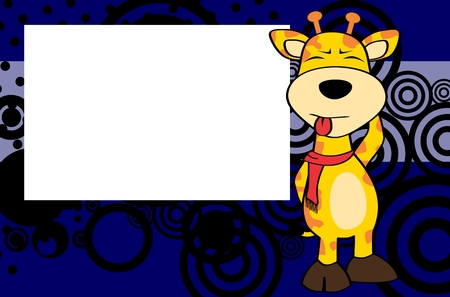 giraffe frame: giraffe cartoon background in frame expression vector format