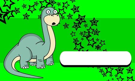 brontosaurus: brontosaurus dinosaur expressions cartoon background in vector format