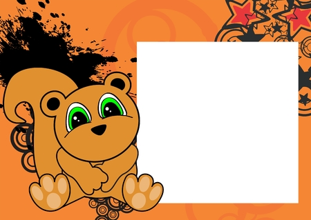 Sweet Baby Squirrel Cartoon Sit Background In Vector Format Frame ...