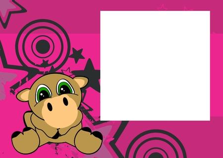 lieve baby kameel cartoon zitten achtergrond in vector-formaat frame Stock Illustratie