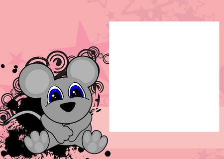 Sweet Baby Mouse Cartoon Sit Background In Vector Format Frame ...