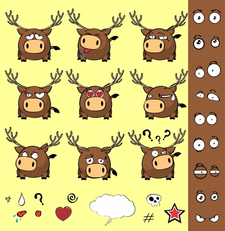 inlove: cute cartoon deer expressions ball in September