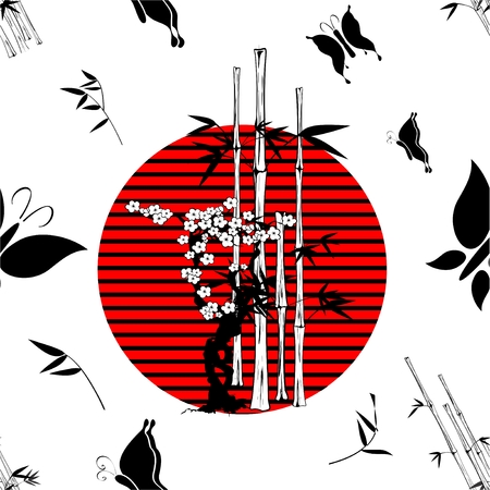 nippon: nippon japanese pattern background in vector format Illustration