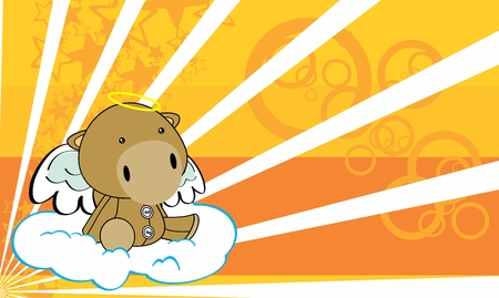 cherub: sweet cherub angel camel cartoon background in vector format Illustration