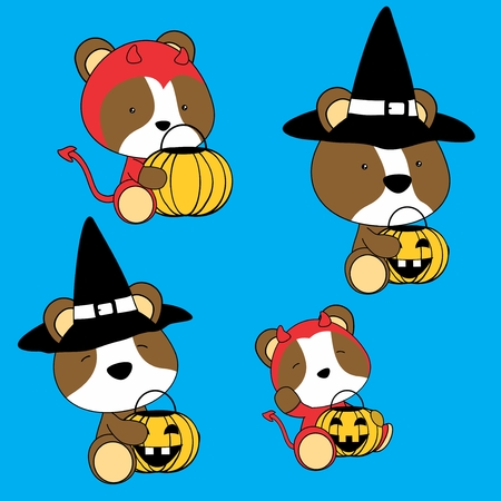 halloween cute baby hamster cartoon in vector format in September