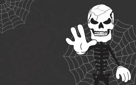halloween background: halloween skeleton cartoon background
