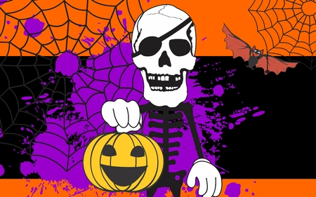 halloween skeleton: halloween skeleton cartoon background