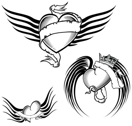 tribal tattoo winged heart  pack in September