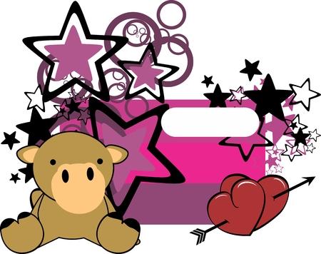 sweet baby camel cartoon copyspace in vector format
