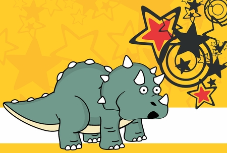 triceratops: Cute baby triceratops cartoon expressions set in vector format very easy to edit