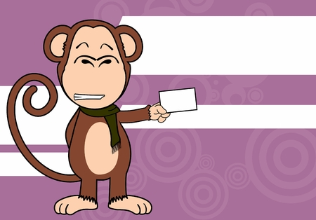 funny monkey expression cartoon in vector format very easy to edit Illustration