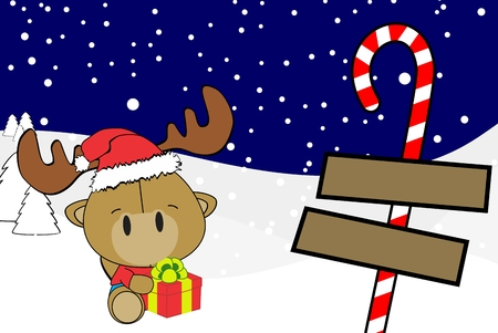 cute baby camel cartoon xmas background in vector format very easy to edit Illustration