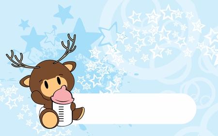 Cute baby deer card design.