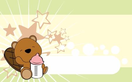 Cute baby animal card design.