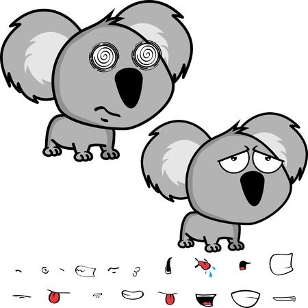 Conjunto de expresiones de koala de bebé Foto de archivo - 90830885