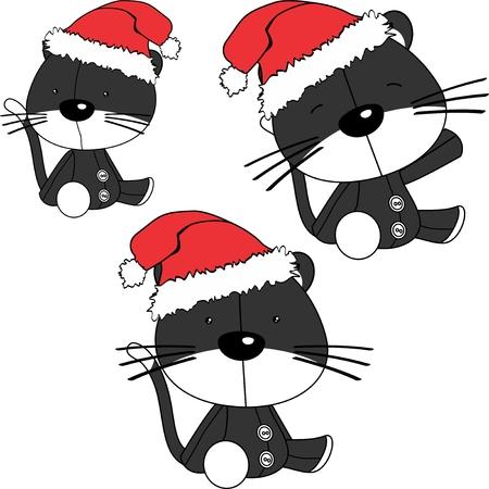 Baby cats cartoon set vector