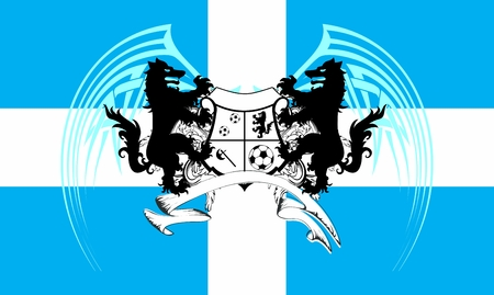 heraldic soccer wolf crest coat of arms background in vector format very easy to edit Illustration