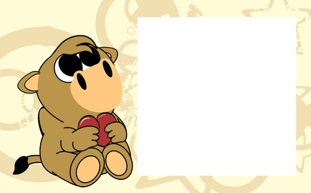 cute baby camel valentine picture frame background in vector format very easy to edit