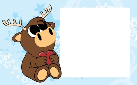 cute baby deer valentine picture frame background in vector format very easy to edit