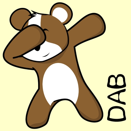 Hamster in a dabbing pose cartoon vector. Illustration