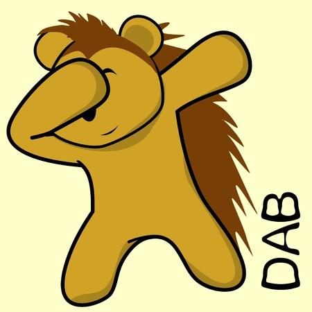 Porcupine in dabbing pose vector. Ilustrace